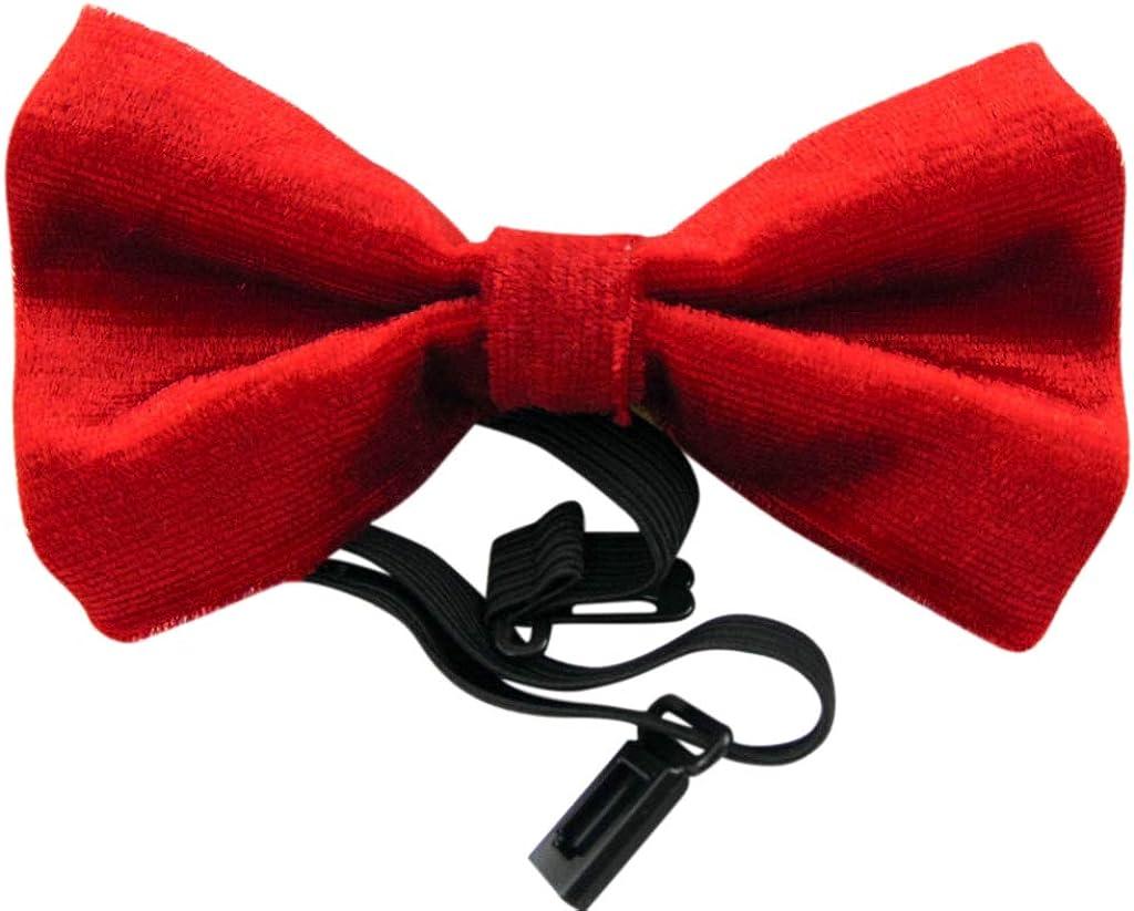 Red Louisville-Jefferson County Mall Velvet Bow Tie Wear Pre-Tied New arrival Formal Adjustable