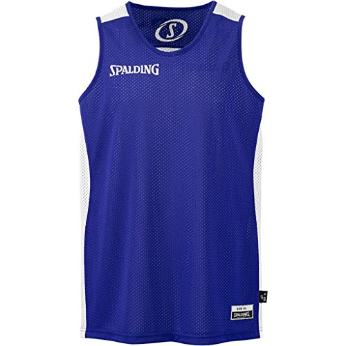 Spalding Essential Camiseta de Juego, Hombre, Azul Royal/Blanco, 140