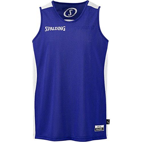 Spalding Kinder Essential Reversible Shirt Bekleidung Teamsport, Royal/Weiß, 164