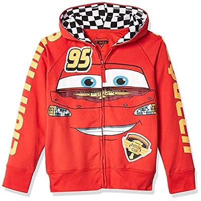 Disney Little Boys' Cars Lightning Mcqueen Hoodie, Red, S-4 from Freeze Children's Apparel