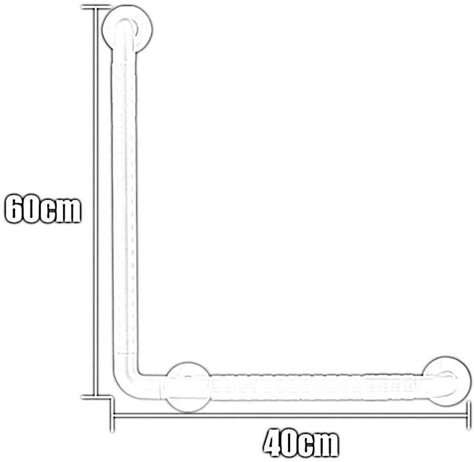 Anti-skid Particles Wear Resistant Stable Stainless Steel L Shaped Railing Suitable for Bathroom Toilet Tub Kitchen handicap Elderly Pregnant Safety Hand Rail Support Anti-Slip Grip Grab Bar Rail