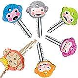 6 Cute Monkey Key Covers for Animal House Keys Keycaps Fits Most Standard Keys
