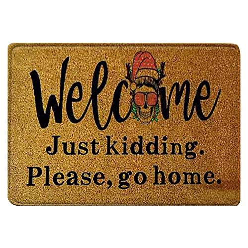 weixinbuy Halloween Zerbino Coperta Benvenuta Casa Decorazione porta d'ingresso Halloween Decor Porta Mat Anti-Slip Bottom