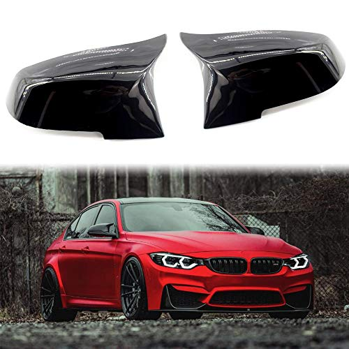 Carrfan Carcasas de Espejos Retrovisores ala Lateral Espejo Tapa Negro Brillante par Apto para BMW F32 F30 F31 F33 F36
