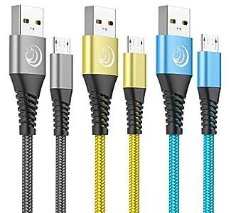 Yosou Cable Micro USB, Cable Android [3-Pack 2M] Nylon Cargador Micro USB Carga Rápida para Android Movil Smartphone, Samsung S6/S6edge,S7/S7edge J5 J7,Xiaomi Redmi,Sony,Nokia,HTC,Moto,LG,PS4