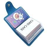 Porta Carte di Credito Pelle Donne Uomo - 24 Slot (Blu)...