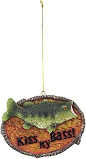 youngs Kiss My Bass Fish Sign Ornament