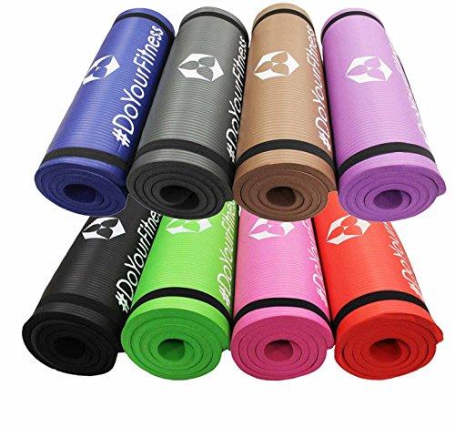 World Fitness Yamuna Gymnastikmatte rutschfest - 183 x 61 x 1,5 cm - inkl. Tragegurt - weiche Oberfläche - Ideale Fitnessmatte für Yoga, Pilates & Workout - Violett
