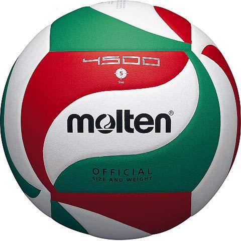 Molten Pallone da pallavolo, colore bianco/verde/rosso 5