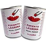LA PASTORA | Producto Gourmet | Pack/ 2 Latas de Pimientos Rojos en Lágrima | Lata 793 gr. | Abrefácil | Pimientos Lágrima | Pimientos Rojos en Conserva | Ingrediente Perfecto en Tus Comidas