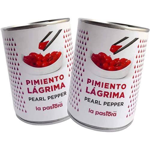 Pack de Pimientos Rojos en Lágrimas - 2 x 793 Gramos - Abrefácil - Pimientos Rojos en Conserva - Libre de OGM - Ingrediente Perfecto en Tus Comidas - Producto Gourmet La Pastora