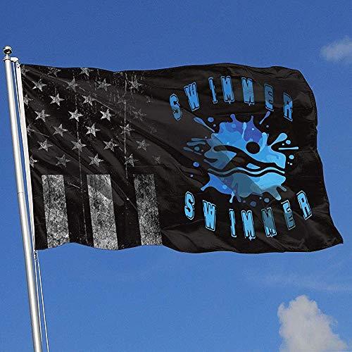 Elaine-Shop Outdoor Flags Abgenutzte USA Flagge Schwimmer Schwimmen 4 * 6 Ft Flagge für Wohnkultur Sport Fan Fußball Basketball Baseball Hockey