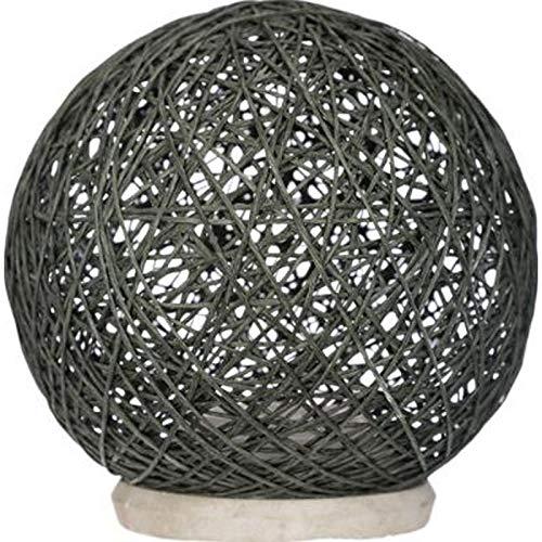 Atmosphera Créateur d'intérieur - Lampe à Poser Papier Boule 20cm Gris