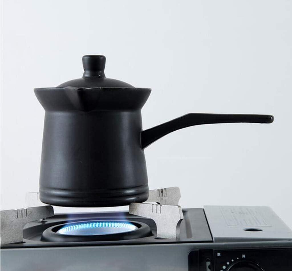 HYYDP Pot Casserole Céramique Pot À Lait Bébé Bébé Complément Alimentaire Pot À Lait Mini Pot À Soupe Casserole Multi-fonctions (Color : White) Black