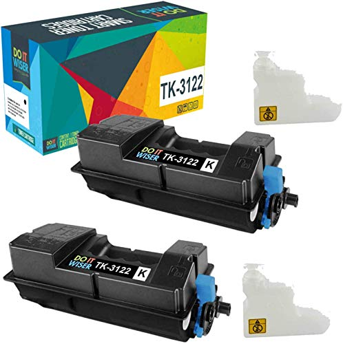 Do it Wiser Compatible Toner Cartridge Replacement for Kyocera TK-3122 Kyocera Ecosys FS-4200DN M3550idn 1T02L10US0 (Black, 2-Pack)