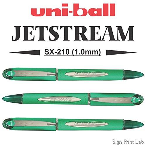 2x verde Uni-ball JETSTREAM SX-210Premium penna roller con punta 1.0