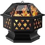 Amagabeli Fire Pit Outdoor Wood Burning Firepit Firebowl Fireplace...