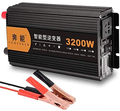 Pure Sine Wave Inverter 3200W 4000W 5000W 6000W 8000W 9000W 12000W 15000W (Peak) Car Power Inverter DC 12v/24v Auf 220v/230v AC for Car Voltage Converter Transformer Car Invertor (3200W,12V)