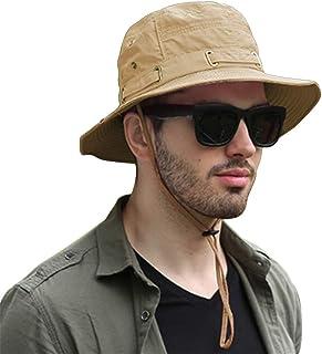 SIYWINA Herrars solhatt brett brätte sommar sol keps UV-skydd fiskehatt vikbar hink hatt