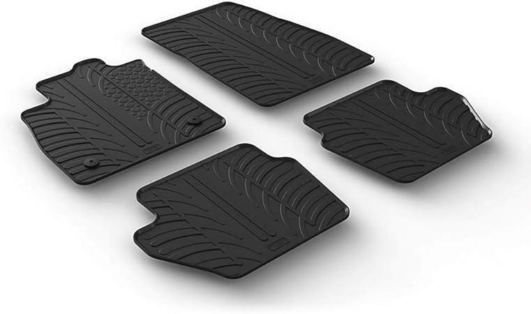 Gledring Set tapis de caoutchouc compatible avec Ford Fiësta 5-portes 2017- & Ford Puma 2019- (T profil 4-pièces clips de montage)