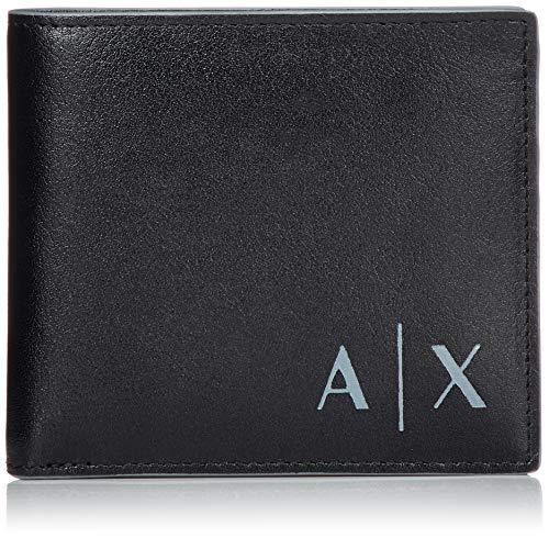 Armani Exchange Logo Credit Card - Portafogli Uomo, Nero (Black), 9.5x1.5x11.5 cm (B x H T)