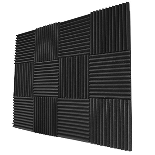 Foamily 12 Pack- Acoustic Panels Studio Foam Wedges 1' X 12' X...