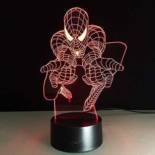 jiushixw 3D-nachtlampje van acryl met afstandsbediening, tafellamp met kleurwisseling, driedimensionaal geschenk, creatieve tafellamp van rijstpapier en rubber