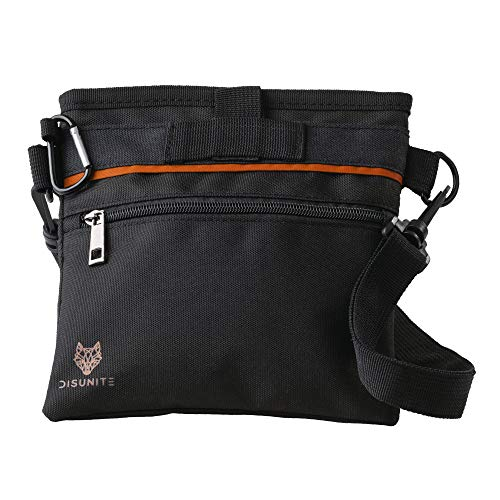 Disunite Futterbeutel für Hunde – Leckerlibeutel – Hund Futtertasche – Hundetraining- Hundeerziehung - Aufbewahrung Leckerli - Tasche - Gürteltasche - Wasserabweisender Leckerlibeutel - Futtertasche