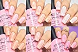 AIMEILI Valentine's Day Gel Nail Polish Set, Soak Off UV LED Nude Pink Gel Nail Polish Color Set Of 6pcs X 10ml - Kit Set 31