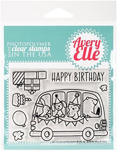 Avery Elle Clear Stamp Set, Mehrfarbig, 10,2x 14.47X 0,43cm, Mehrfarbig, 10.16 x 14.47 x 0.43 cm