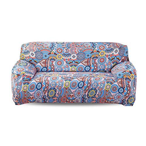 Fashion·LIFE 3-Plazas Funda de Sofá Elástica Suave Protector para Sofás Cubre Sofá sofá Cubierta Floral Print Funda para Sofá de Sala,Reino