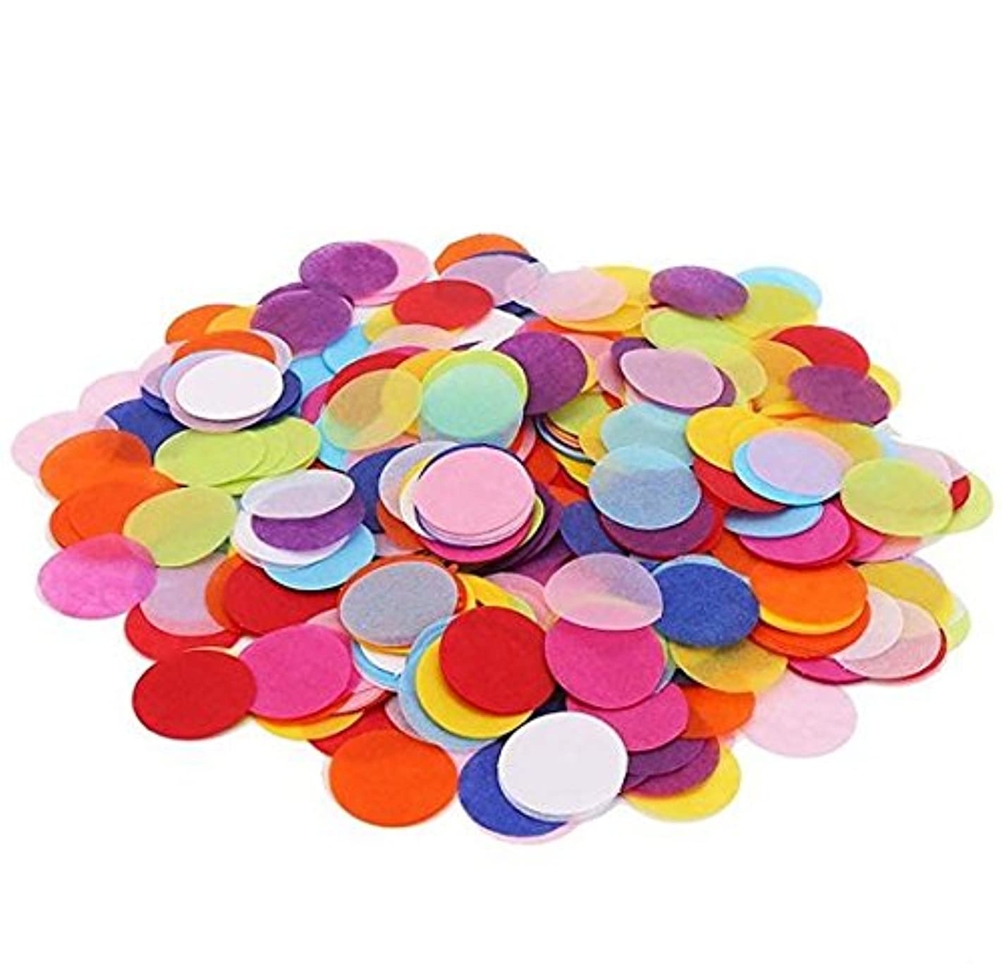 VNDEFUL 1 inch Multicolor Circle Paper Confetti for Wedding, Easter and Birthday Party Decorations, 1000 Pieces