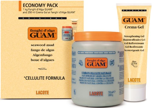 Guam plus de commodité Boues Algue Classico Anti Cellulite 1Kg + Gel-crème 250 ml