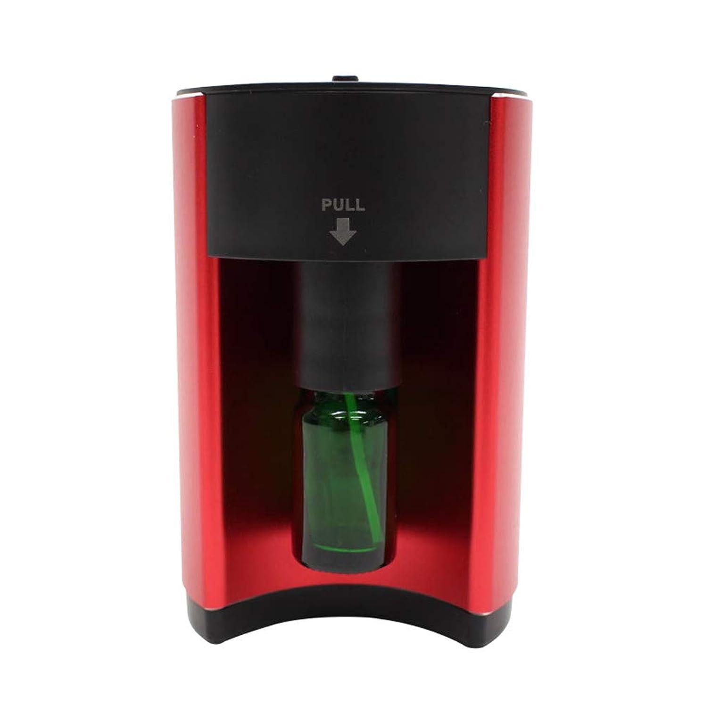 誕生著作権デジタルアロマディフューザー 噴霧式 自動停止 16段階モード設定 ECOモード搭載 水を使わない ネブライザー式 コンパクト AC電源式 香り 癒し レッド