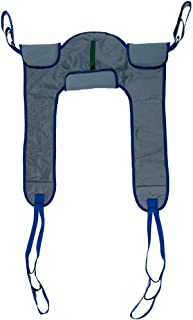 Deluxe Padded Toileting Patient Lift Sling, with Belt, Size (Large), 450lb Weight Capacity