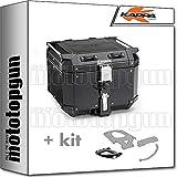 kappa maleta kfr420b k'force 42 lt + portaequipaje monokey compatible con honda xl 650 v transalp 2004 04
