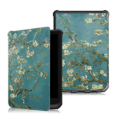VOVIPO Custodia Slim Sleep Cover Compatibile con Pocketbook Touch HD 3 / Touch Lux 4 / Touch Lux 5 / Basic Lux 2 / Color (2020) e-Book Reader
