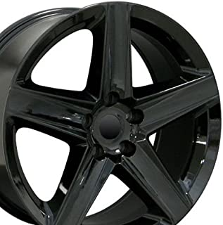 20x9 Wheels Fit Jeep Grand Cherokee - Grand Cherokee Style Black Rims, Hollander 9082 - SET