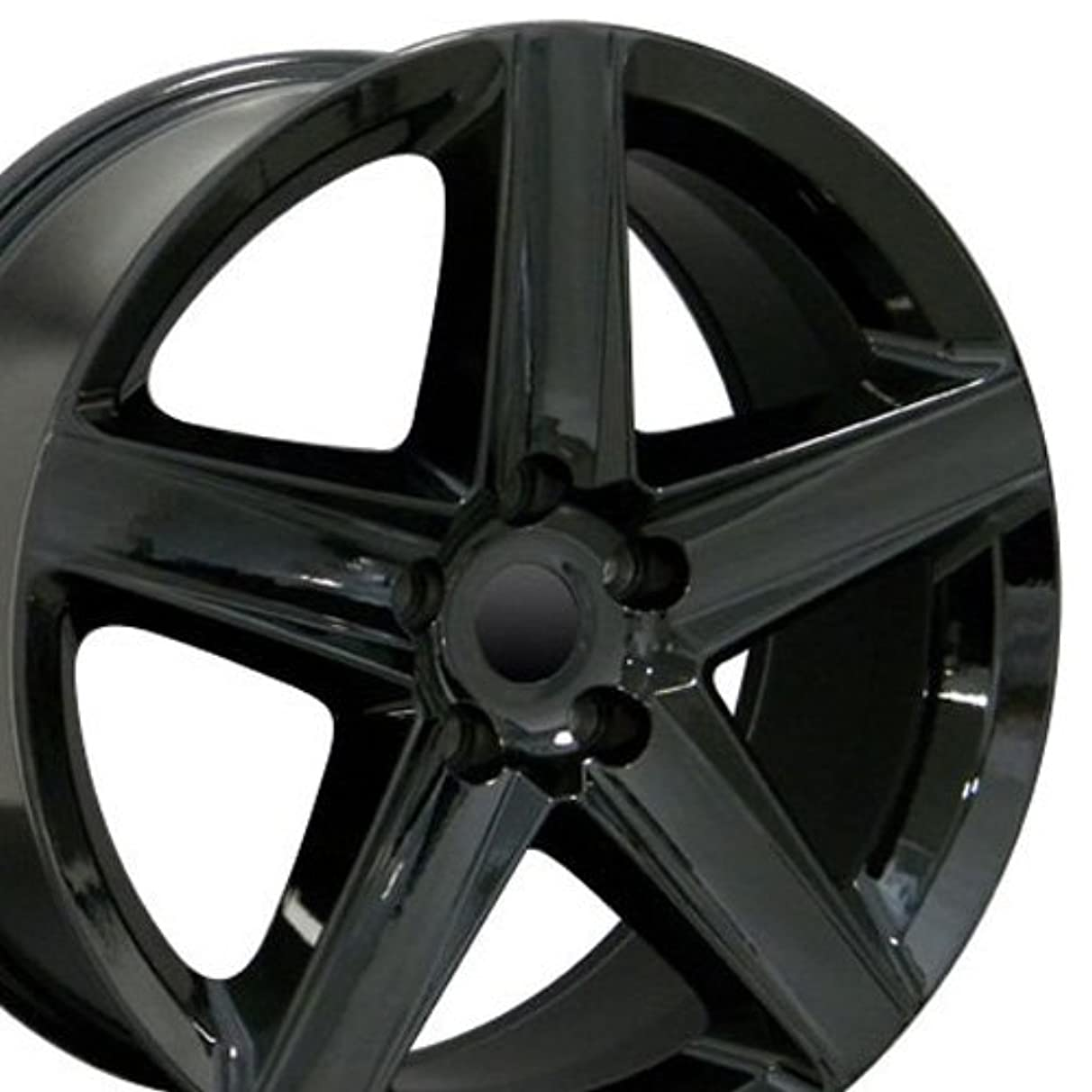 20x9 Wheels Fit Jeep Grand Cherokee - Grand Cherokee Style Black Rims, Hollander 9082 - SET