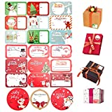 216 PCS Tags Stickers Xmas Name Tag Stickers Festival Decorative Presents Labels for Gift Boxes