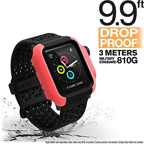 Catalyst Apple Watch 38 mm Cover Serie 3 e Serie 2 - Custodia Antiurto Grado Militare protezione Apple Watch Series 2 Series 3 [Robusta Custodia Antiurto per iWatch] - Coral
