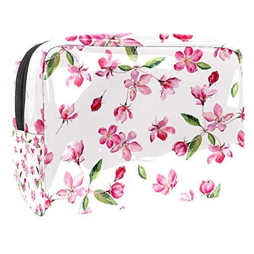Trousse de toilette multifonction pour femme - Aquarelle - Fleurs de cerisier