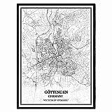 Göttingen Deutschland Karte Wandkunst Leinwand drucken