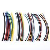 Tubo termorretráctil de 70 piezas, 5 tamaños surtidos 2:1, sin halógenos, tubo de encogimiento de envoltorio, juego de tubos retráctiles, 7 colores