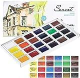 Sonnet Aquarellfarbkasten Set - 24 kräftige Studio Aquarellfarben - Hochwertige Wasserfarben von Nevskaya Palitra…