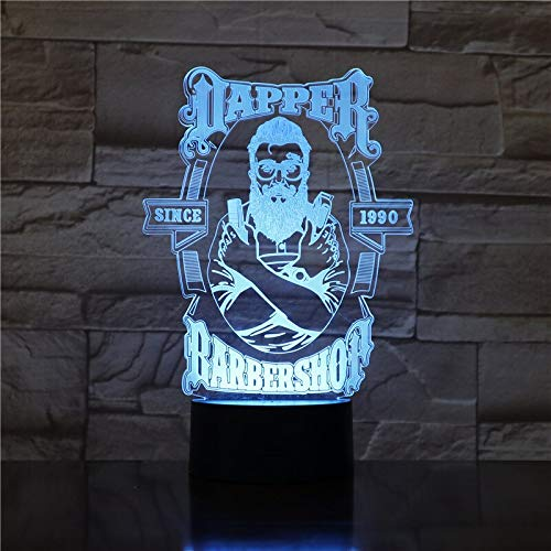 Barber Shop 3D LED Night Lamp Table Lamp Valentines Gifts for Boys Kids Sleeping Light Fac Direct Sales 3D
