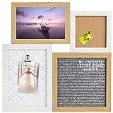 Gadgy ® Letter Board, Pinnwand und Klemmbrett in Einem | 31,3 x 31,3 x 1,5 cm | Mit 170 Weiße...