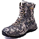 cungel Men's Camo Hunting-Boot Waterproof Hiking Boots Anti-Slip Lightweight Breathable Durable Outdoor Shoes High-Cut Fishing Climbing Working Trekking(Digital camo,11)