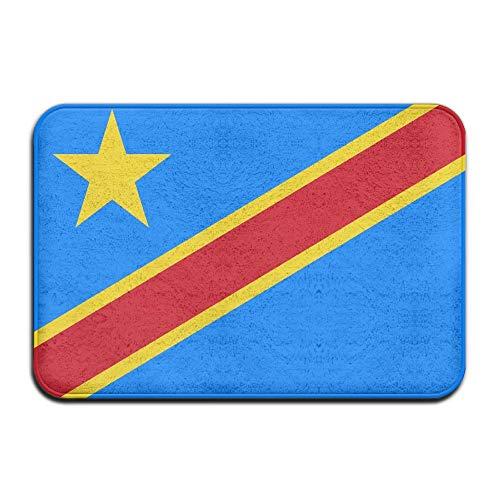 Alfombrilla de bienvenida con la bandera de la República del Congo, para puerta delantera, baño, interior y exterior, alfombrilla para puerta de baño, alfombrilla para entrada exterior