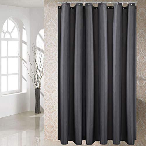 Spero Bad Duschvorhang, Dunkelgrau Waterproof Badvorhänge, 100prozent Polyester Schimmel Schimmel Free Bath Curtain (Dunkelgrau, 180 x 200 cm)